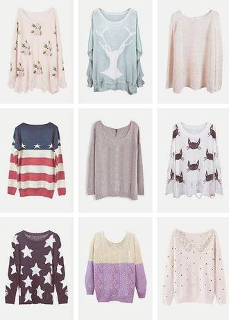 sweater oversized sweater fall outfits united states flag america sweater flowers deer shirt pink american flag american flag shorts stars cats purple sweater polka dots cute kawaii shirt vintage floral pretty clothes sweater weather cool