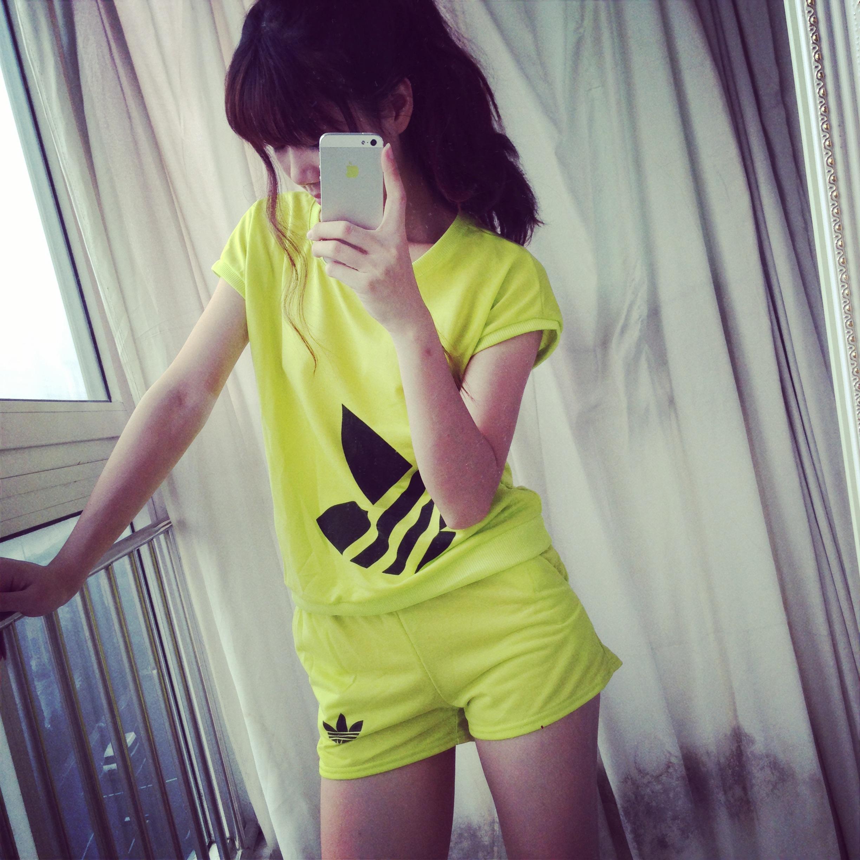 2014 summer women's short sleeve T shirt female print t shirt shorts twinset casual sports set-inHoodies & Sweatshirts from Apparel & Accessories on Aliexpress.com