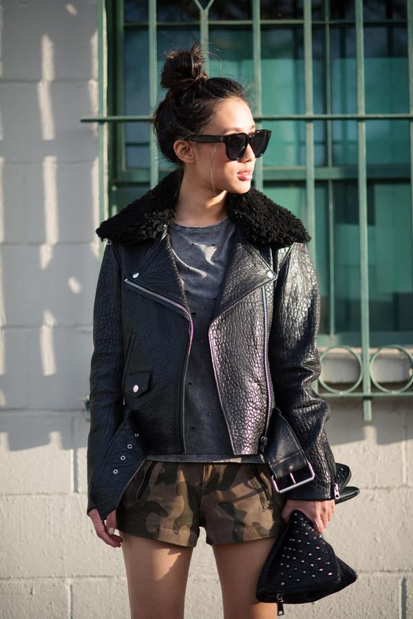 neon blush jacket t-shirt shorts shoes bag sunglasses