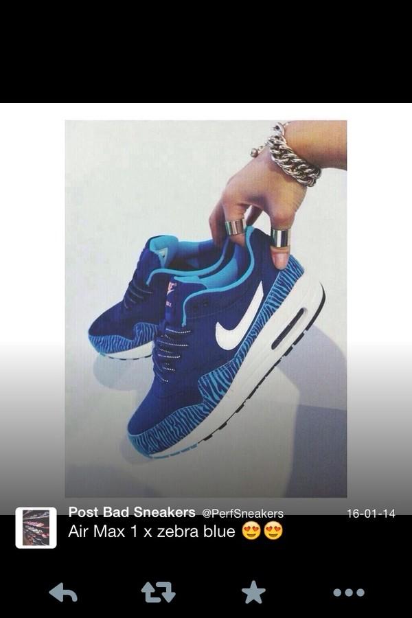 shoes zebra blue air max