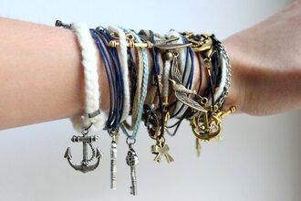 friendship bracelet anchor keychain bow dress jewels