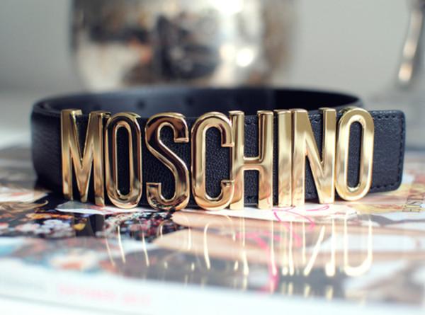 belt black lether belt moschino belt moshino black gold lether