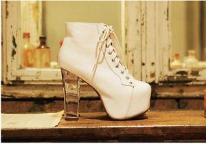 Women Transparent Heels Pump Platform Ankle Boots Shoes Heels Fashion Brand Heel   eBay