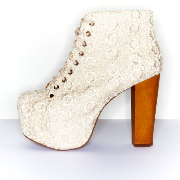 Cold Feet by Jeffrey Campbell 'Lita Lace', Ivory - Ashbury Skies