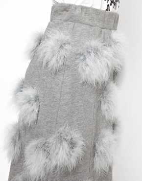 House of Holland | House of Holland Maribou Sweat Skirt at ASOS