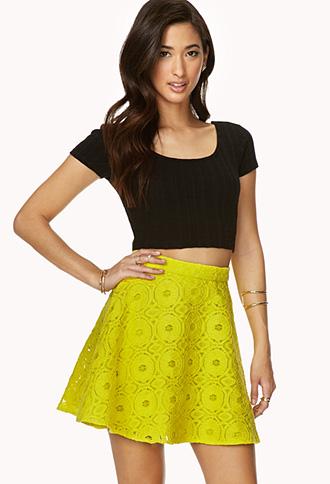 Retro Crochet Skater Skirt | FOREVER 21 - 2000063556