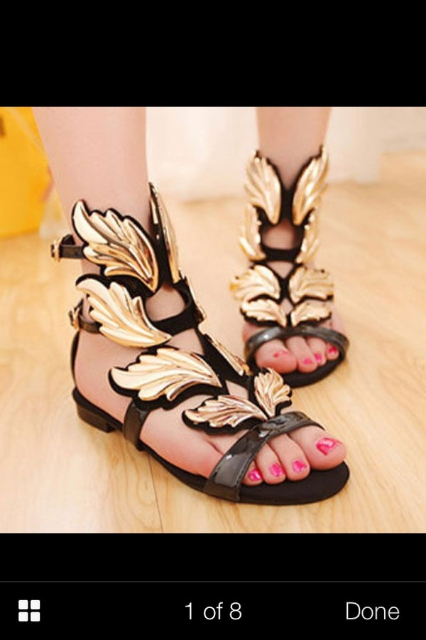 shoes winged sandals