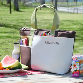 Embroidered Insulated Picnic Tote Cooler - Sincerity Weddings