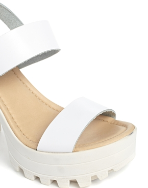 ASOS | ASOS HIGH TIDE Leather Heeled Sandals at ASOS