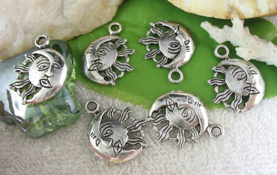 20pcs Tibetan Silver Sun Moon Charm FC10382 | eBay