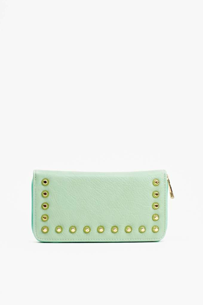 Total Stud Wallet - Mint | Shop Accessories at Nasty Gal