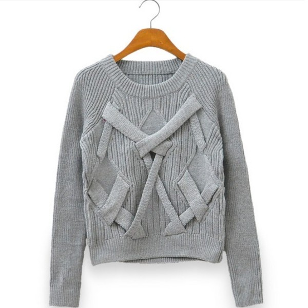 sweater pure color sweet cute