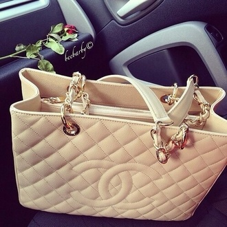 bag chanel inspired purse tan purse channel purse