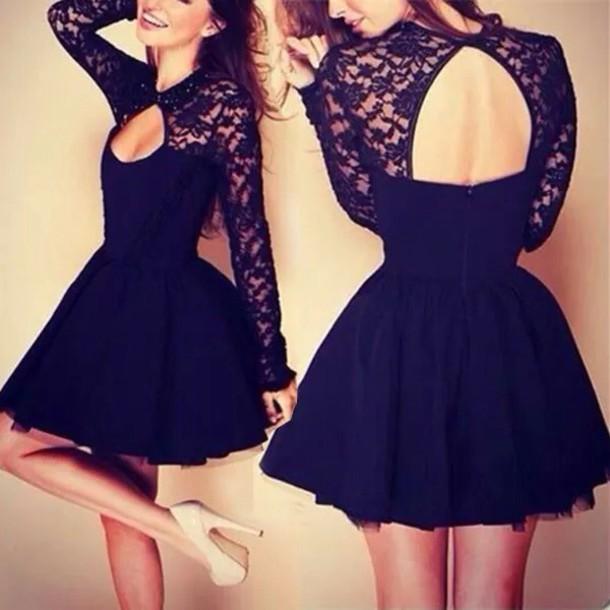 dress lace top lace dress black dress lace top dress clothes black lace girly pretty blue open back dresses black dress lace cute