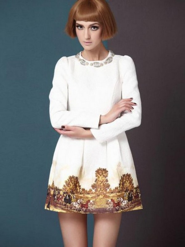 dress elegant white clothes