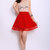 MDS. Tectonic Waves Skater Skirt in Red (6618383REDF)