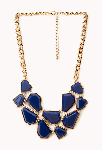 Jigsaw Bib Necklace | FOREVER21 - 1023047603