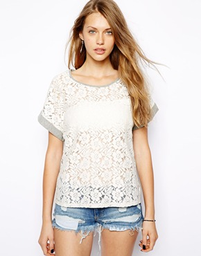 Only | Only Crochet Front Top at ASOS