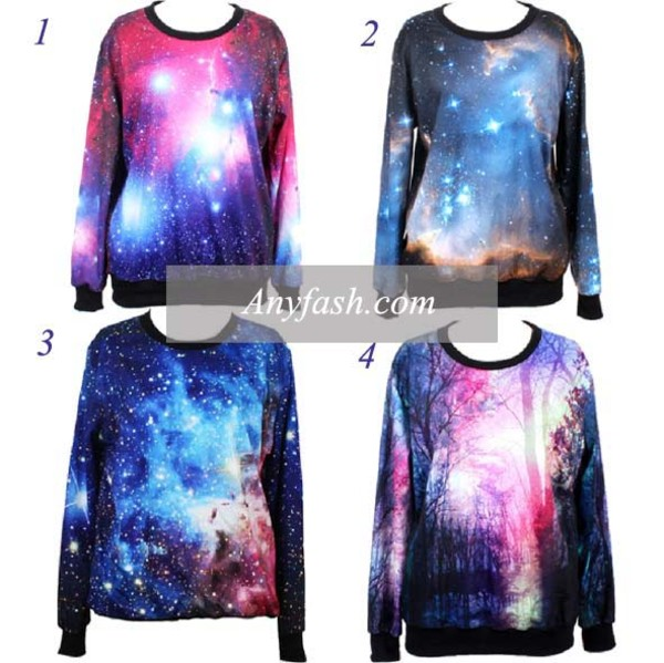 blouse pullover top galaxy print galaxy pullover print print top blue