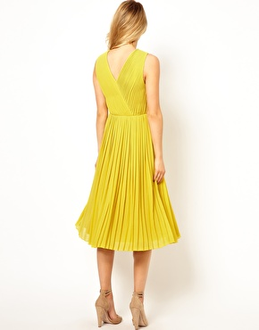 Ted Baker   Ted Baker Pleated Midi Dress at ASOS