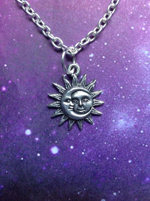 Sun and Moon necklace by lotusfairy on Etsy