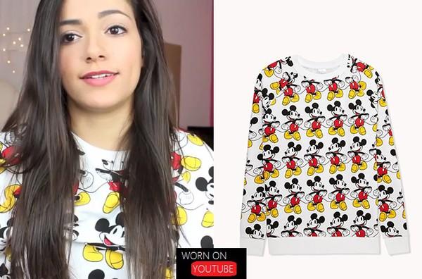 shirt lcute cute long sleeves mickey mouse
