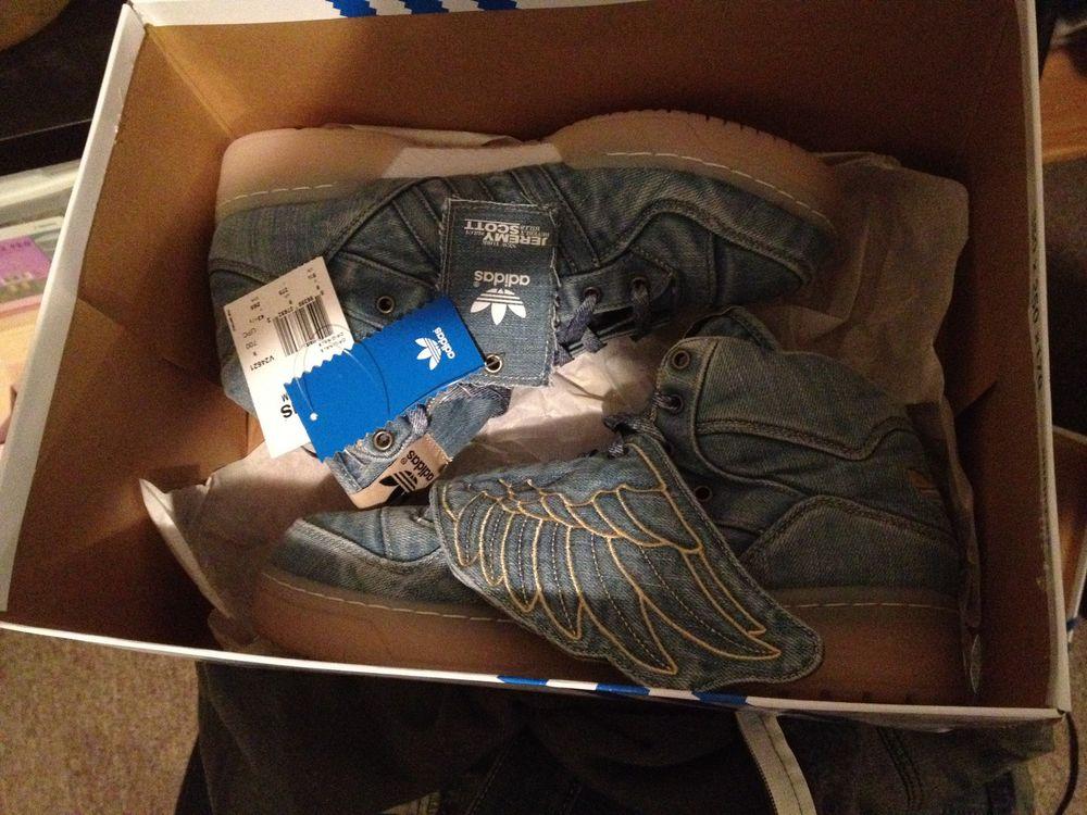 Adidas Jeremy Scott Wings Denim Size9 5 Limited V24621 | eBay