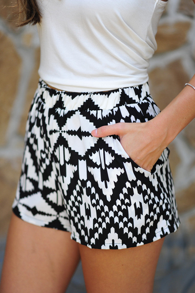 lexthet_rex82's save of Electric Slide Shorts: Black/White | Hope's on Wanelo