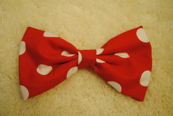 hat hair bow minnie mouse disney cute rec white polka dots hair accessory