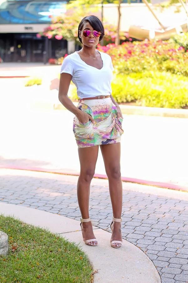 the daileigh t-shirt skirt dress belt sunglasses shoes