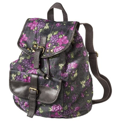 Mossimo Supply Co. Floral Studded Backpack - Gray on Wanelo