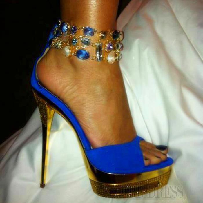 2013 Sexy Platform Peep Toe Stiletto Heels Prom/Evening Sandals Stiletto Sandals- ericdress.com 10847654
