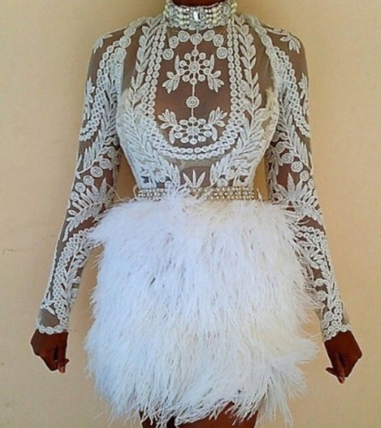 dress white lace dress fur white dress lace dress lace top see through dress skirt