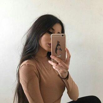 top nude beige caramel tumblr girl
