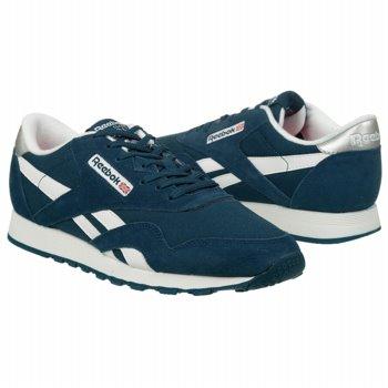 Athletics Reebok Men's Classic Nylon Blue/White/Silver Shoes.com