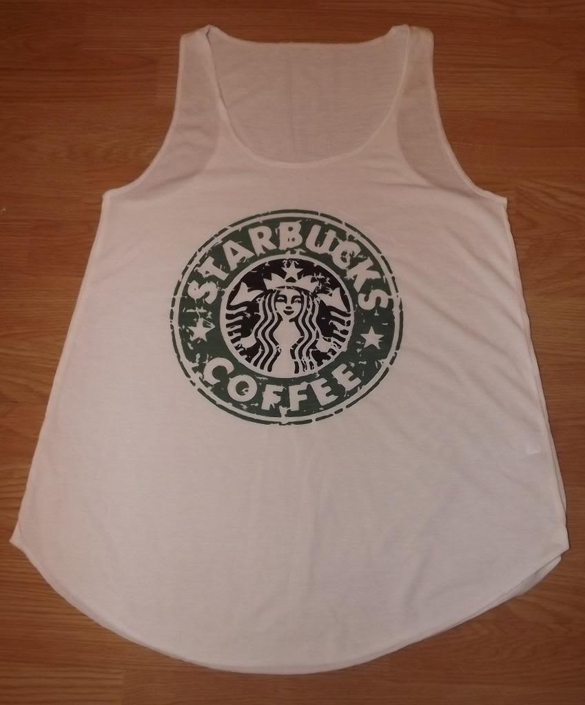 Starbucks Coffee T Shirt Vest Tank Top Top Ladies Womens Girls New   eBay