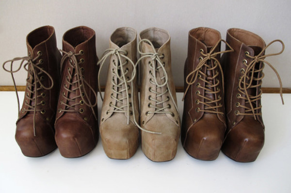 shoes boots casual look girl brown ship like
