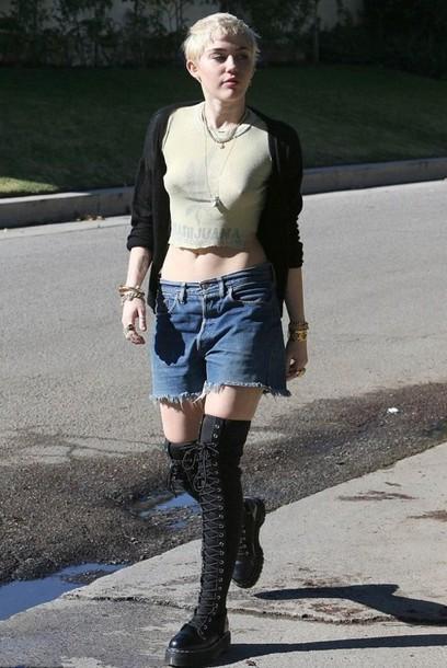 miley cyrus cut off shorts shorts denim shorts levi's shoes