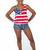 American Flag Crop Top                           | Nerdboy Wear