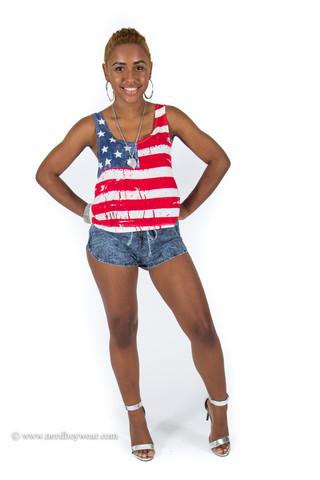 American Flag Crop Top                             Nerdboy Wear