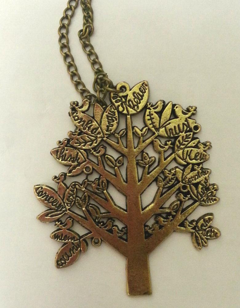 Melo Yumi's Shop Retro Kitsch Quirky Birds Garden Trees Shabby Chic Necklace | eBay