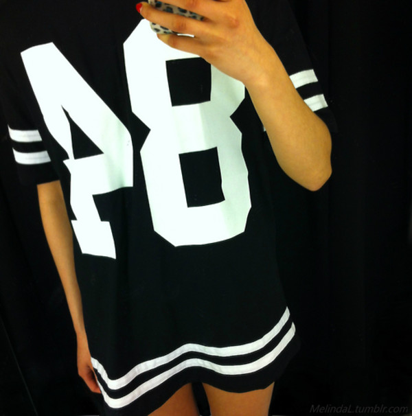 shirt black white jersey black and white stripes dress t-shirt