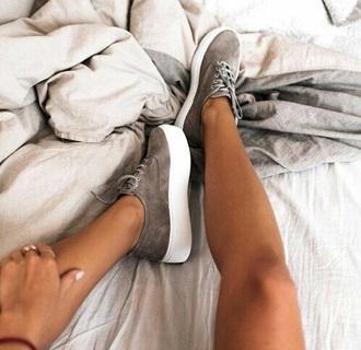 shoes grey platform shoes grey sneakers suede sneakers suede shoes low top sneakers platform sneakers flatforms taupe suede beige sneakers