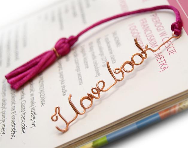 Ciondoli in metallo - Personalized bookmark - wire name - un prodotto unico di She-Bijou su DaWanda