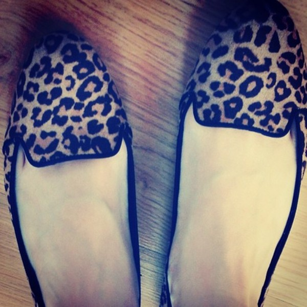 shoes loafers leo leopard print summer smoking slippers
