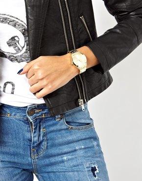 ASOS   ASOS – Elegante, goldene Boyfriend-Armbanduhr bei ASOS