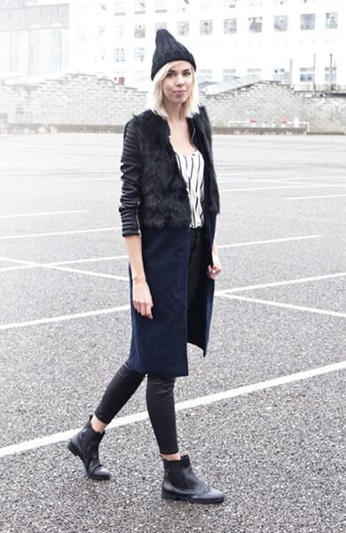 Vintage Long Waistcoat Stitch Fur | Choies