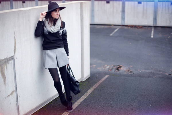 style scrapbook skirt shoes bag sweater