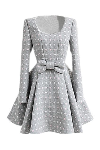 Cute fall polkadot dress | allll the pretty clothes and all the wonde…