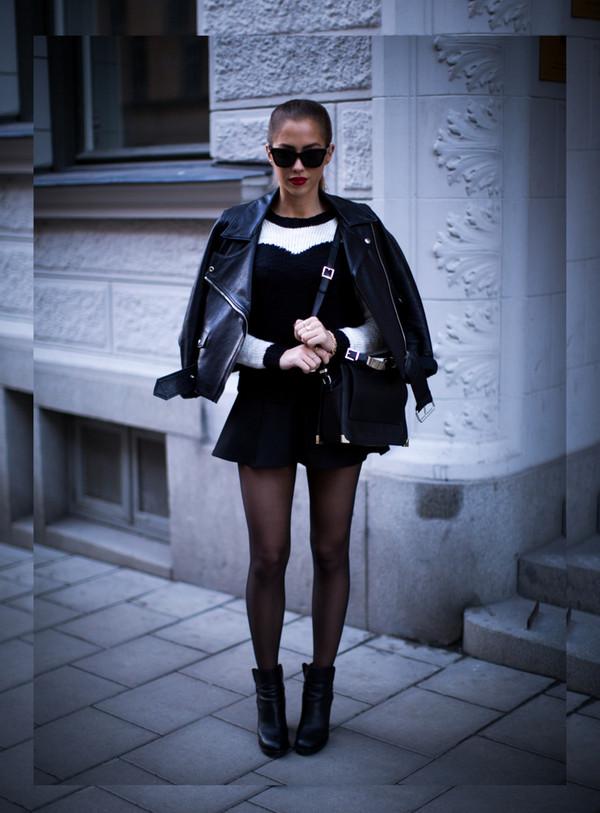 kenza sweater skirt bag jacket sunglasses jewels shoes